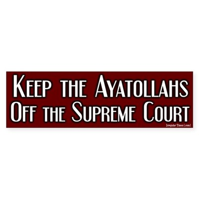 Keep off Ayatollahs Bumper Sticker