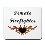 Female Firefighter gift mouse pad has matching mugs, bags, tee's and apparel!