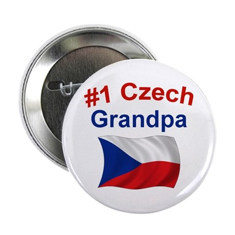 1 Czech Grandpa  Grandpa 2.25 Button by CafePress
