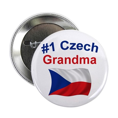 1 Czech Grandma  Mother's day 2.25 Button by CafePress