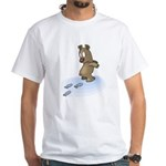 Coming or Going Bear White T-Shirt