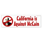 California is Against McCain bumper sticker
