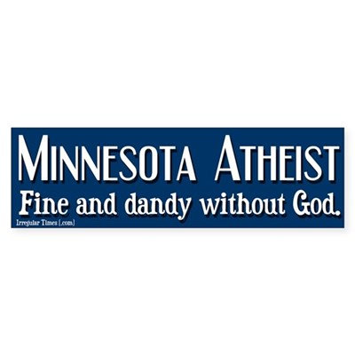 Minnesota Atheist Bumper Sticker