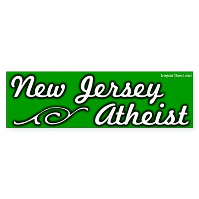 New Jersey Atheist Bumper Sticker