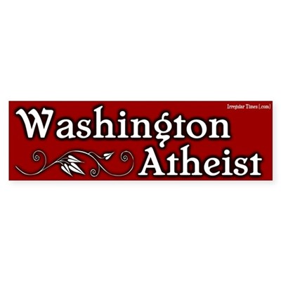 Washington Atheist Bumper Sticker