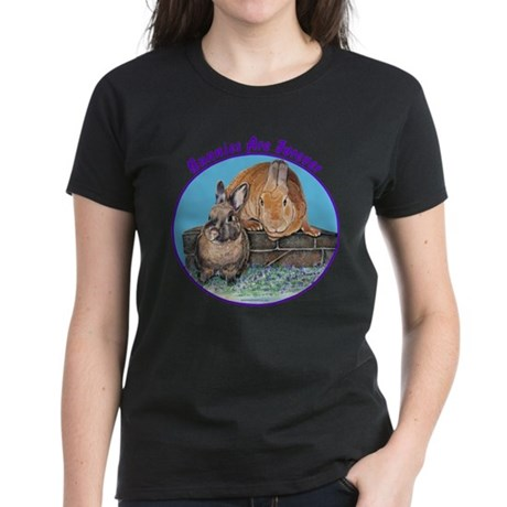 Bunny Friends Women's Dark T-Shirt