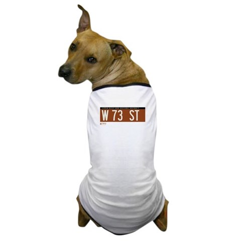 73rd Street in NY  New york Dog T-Shirt by CafePress