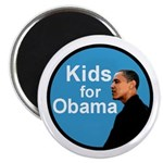 Kids for Obama Blue Portrait Magnet