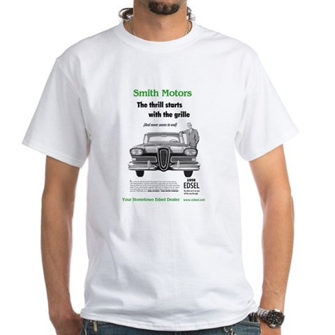 White T-shirt Smith White T-Shirt by CafePress
