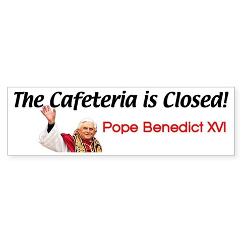 'Cafeteria Is Closed'  Club Bumper Sticker by CafePress
