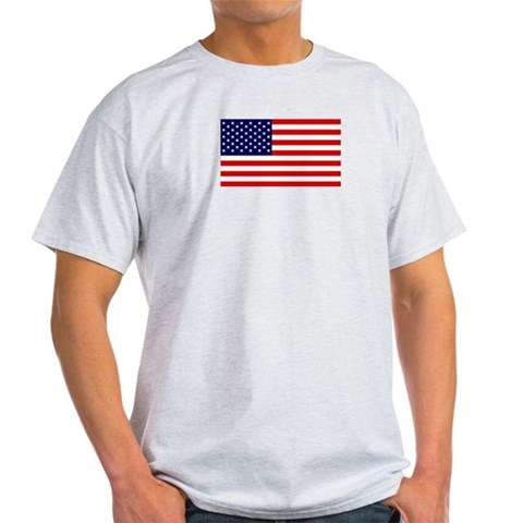 American Flag Grey T-Shirt Baseball Light T-Shirt by CafePress