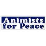 Animists for Peace (bumper sticker)