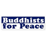 Buddhists for Peace bumper sticker