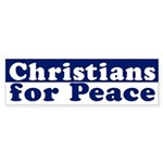 Christians for Peace bumper sticker