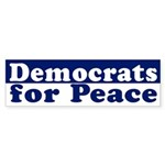 Democrats for Peace (bumper sticker)