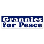 Grannies for Peace (bumper sticker)