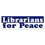 Librarians for Peace (bumper sticker)