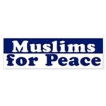 Muslims for Peace (bumper sticker)