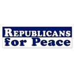 Republicans for Peace bumper sticker