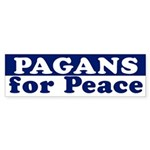 Pagans for Peace (bumper sticker)