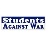 Students Against War bumper sticker
