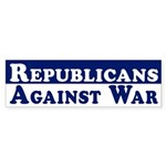 Republicans Against War car sticker