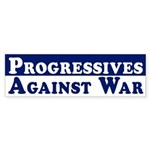 Progressives Against War auto sticker