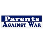 Parents Against War bumper sticker