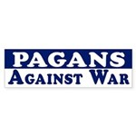 Pagans Against War bumper sticker