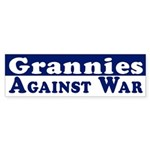 Grannies Against War bumper sticker