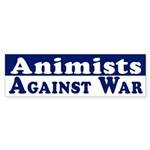 Animists Against War bumper sticker