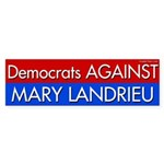 Democrats Against Mary Landrieu bumper sticker