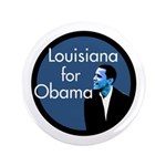 Big Louisiana for Barack Obama Button