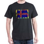 Iceland Flag On Stained Glass T-Shirt