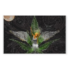 Sativa Goddess! Marijuana! Hemp! Sticker (Rectangu