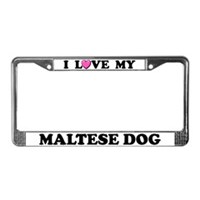 Maltese License Plate Frames