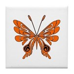 Butterfly Tattoo Tile Coaster