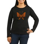 Butterfly Tattoo Women's Long Sleeve Dark T-Shirt
