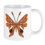 Coffee mugs, cocoa and tea cups personalized with butterflies for motivational mornings!