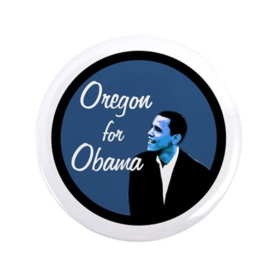 Extra Large Oregon for Obama Button