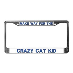 Crazy Cat Kid License Plate Frame