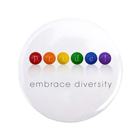 pride candy  Gay pride 3.5 Button 100 pack by CafePress