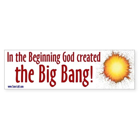 - In the beginning God created the Religion Bumper Sticker by CafePress