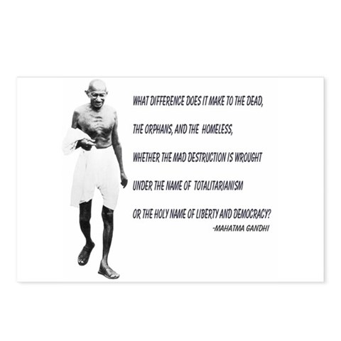 - Ghandhi Quote Religion Postcards Package of 8 by CafePress