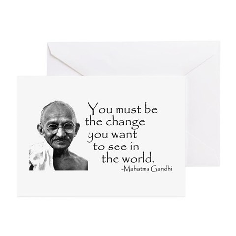 - Be the change... Peace Greeting Cards Pk of 10 by CafePress