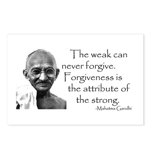 - The weak can never Peace Postcards Package of 8 by CafePress