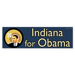 Indiana for Barack Obama bumper sticker