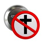 No More Christian Cross Button