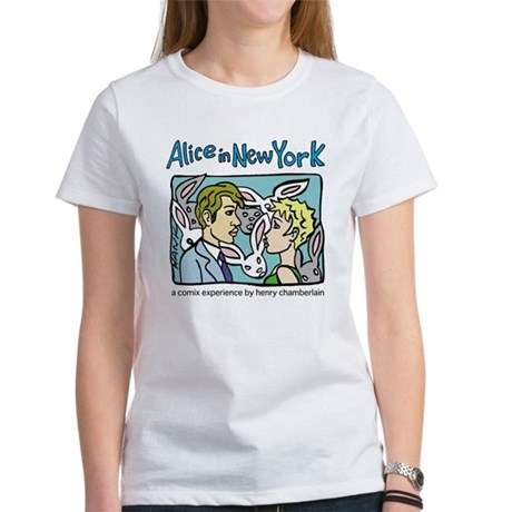 Women's T-Shirt Alice with Rabbits