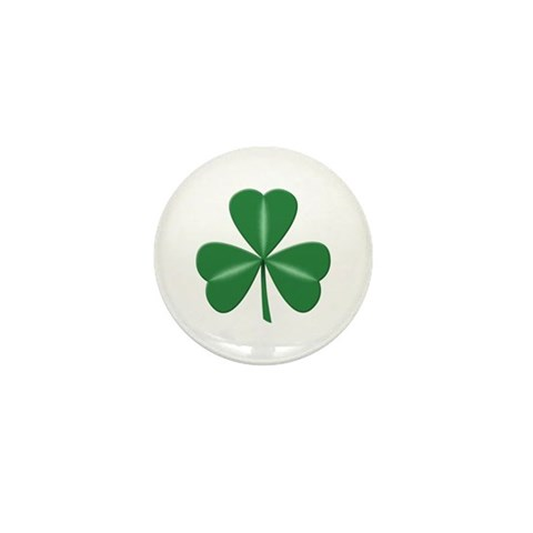 3 Leaf Green  Irish Mini Button 100 pack by CafePress